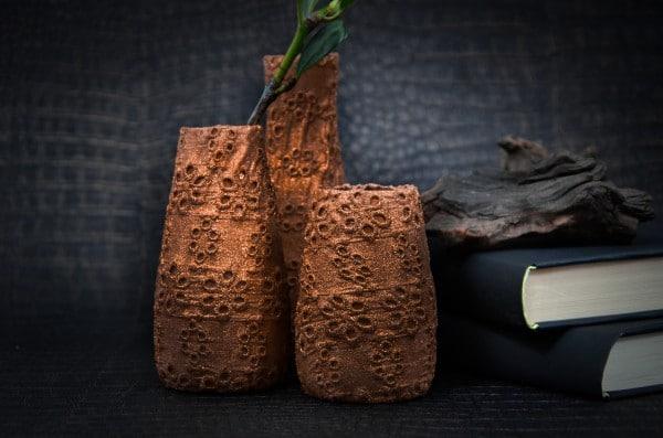 DIY: Kupfervasen aus Cremefine-Fläschen