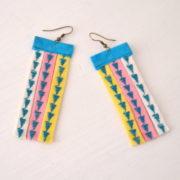 DIY Ohrringe aus Schrägband