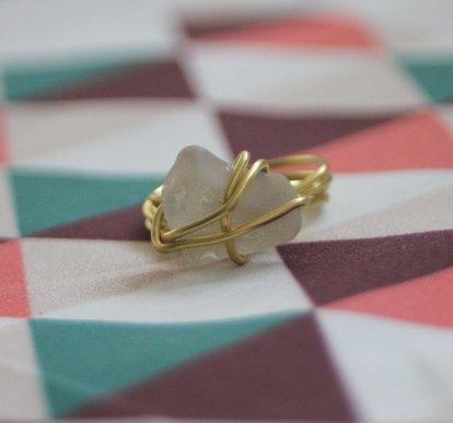 Ring aus Seeglas