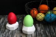Geometrische Eierbecher aus Fimo