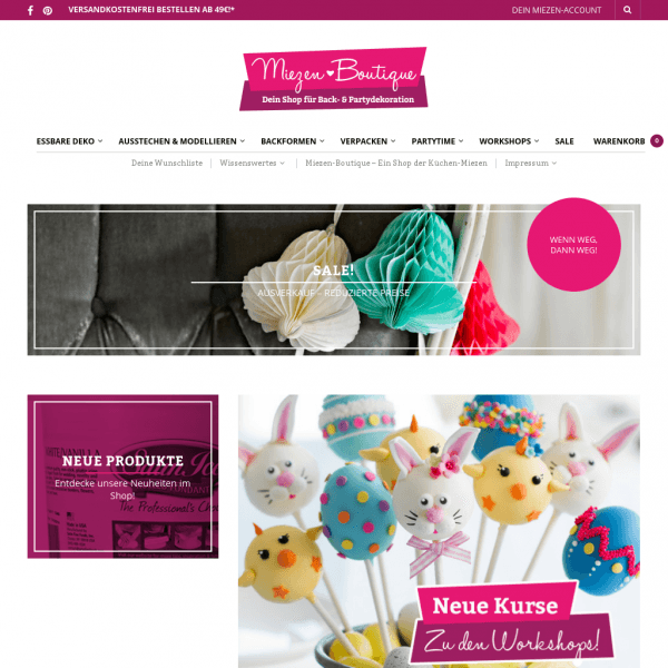 Miezen-Boutique · Dein Shop für Back- & Partydekoration.