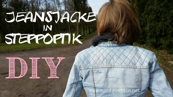 Jeansjacke in Steppoptik