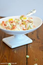 Flusskrebssalat mit Wachteleiern von den [Foodistas]