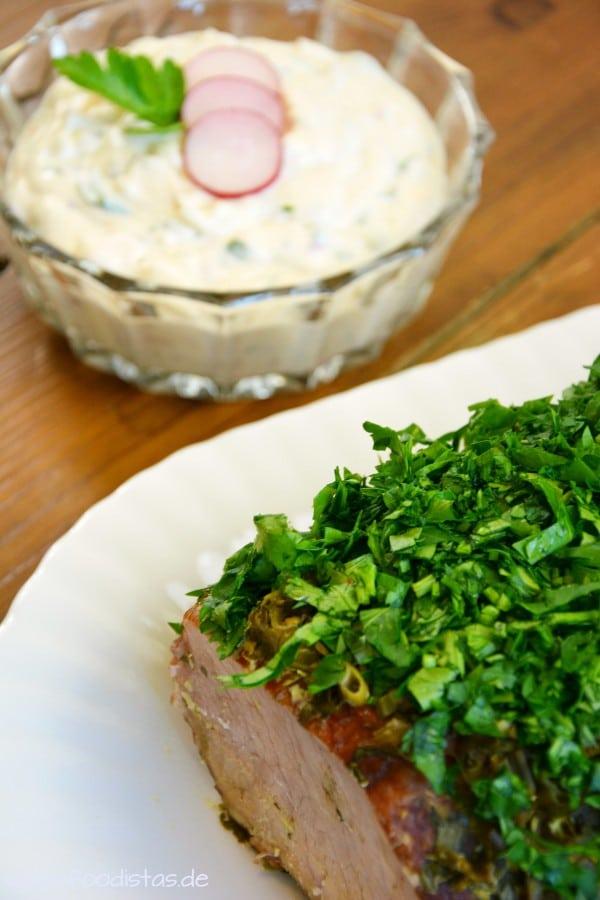 Kasseler mit Kräuter-Senf-Kruste von den [Foodistas]