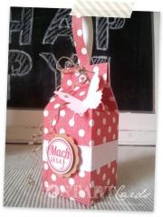 Kleine Milchtüten Geschenkverpackung