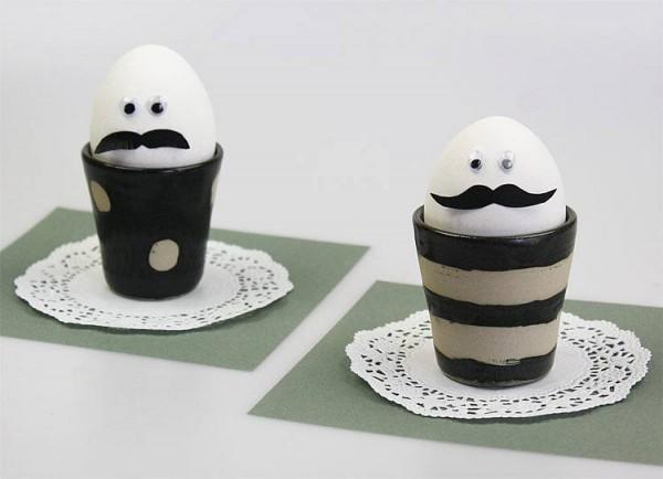 lustige moustache eier handmade kultur. Black Bedroom Furniture Sets. Home Design Ideas