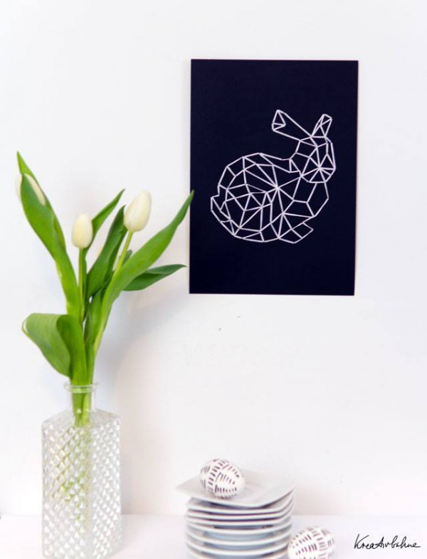 oster deko f r die wand handmade kultur. Black Bedroom Furniture Sets. Home Design Ideas