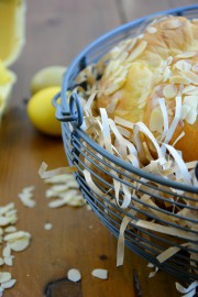 Osterhefekranz mit Orange und Mandel von den [Foodistas]
