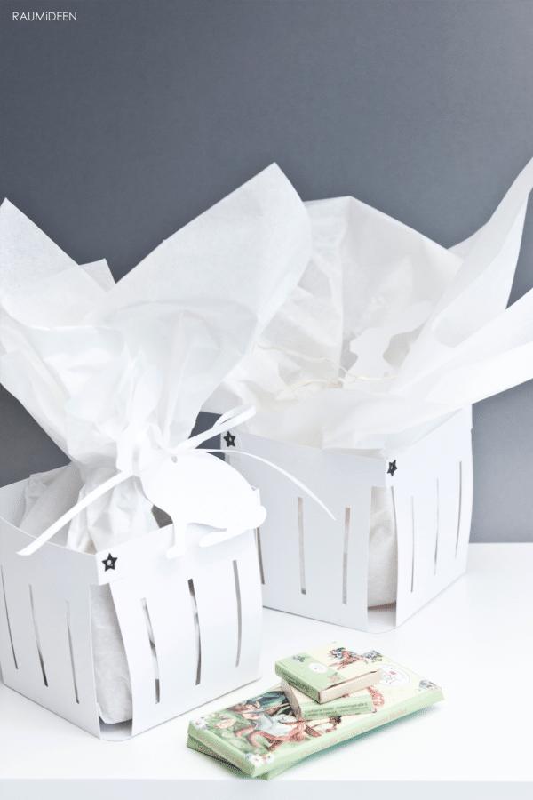 Osterkörbchen aus Pappe