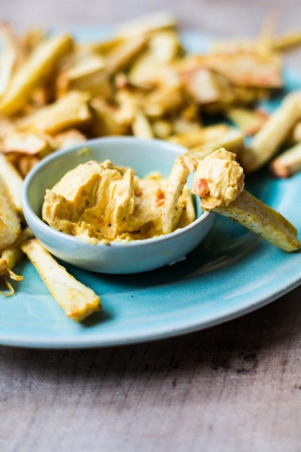 Pastinaken-Curry-Pommes (Gesundes Mittagessen, schnell gemacht)