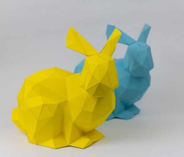 Polygon-Osterhase aus Papier