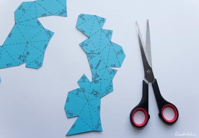 polygon osterhase aus papier handmade kultur. Black Bedroom Furniture Sets. Home Design Ideas