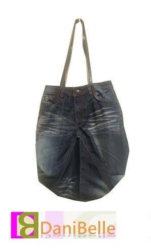 R....y (englisches Wort für Wiederholung)  Jeanstasche nachgenäht