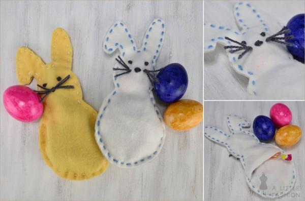 Süße DIY-Hoppelhäschen als Ostertüte