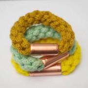 Strickliesel-Armband mit Kupfer
