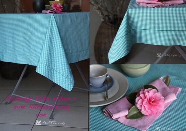 Tischtuchecke nähen - eine Anleitung