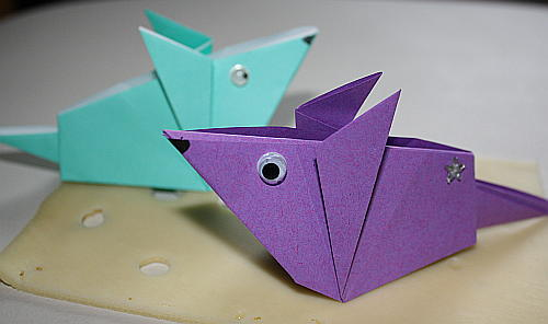 ♥ Frühlingshafte Deko - Maus aus Papier basteln ♥
