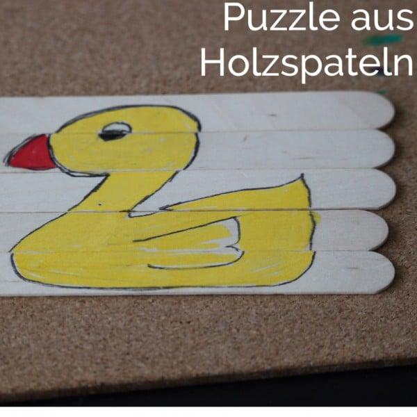 Puzzle aus Holzspateln