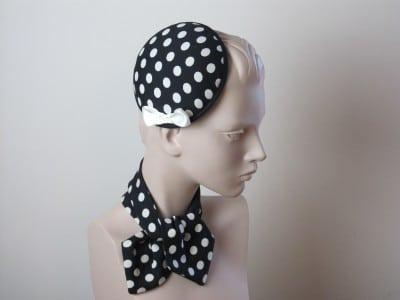 50´s Headpiece mit Punkten