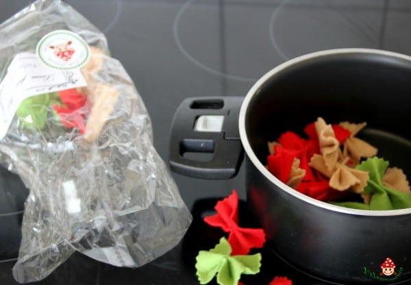 Zweierlei Pasta für den Kaufmannsladen