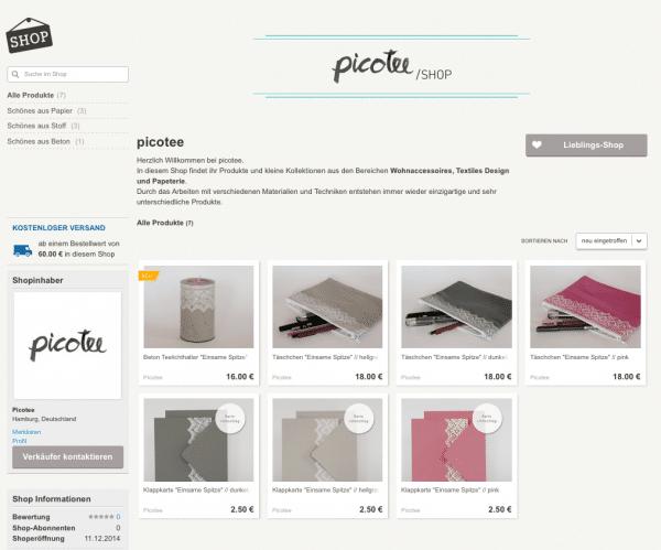 picotee - Online Shop bei DaWanda