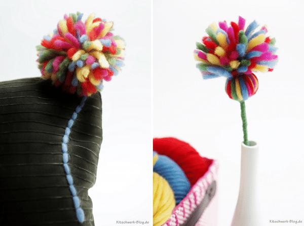 Blumenkissen Pompon