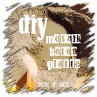 DIY Mosaik-Betonplatte