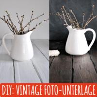 DIY - Vintage Foto-Unterlage und -Hintergrund basteln