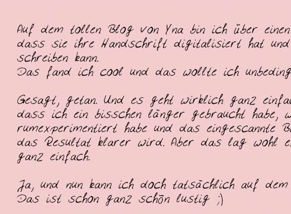 Font - eure Handschrift digital