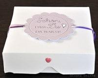 Geschenkbox / Pizzabox für Cookies
