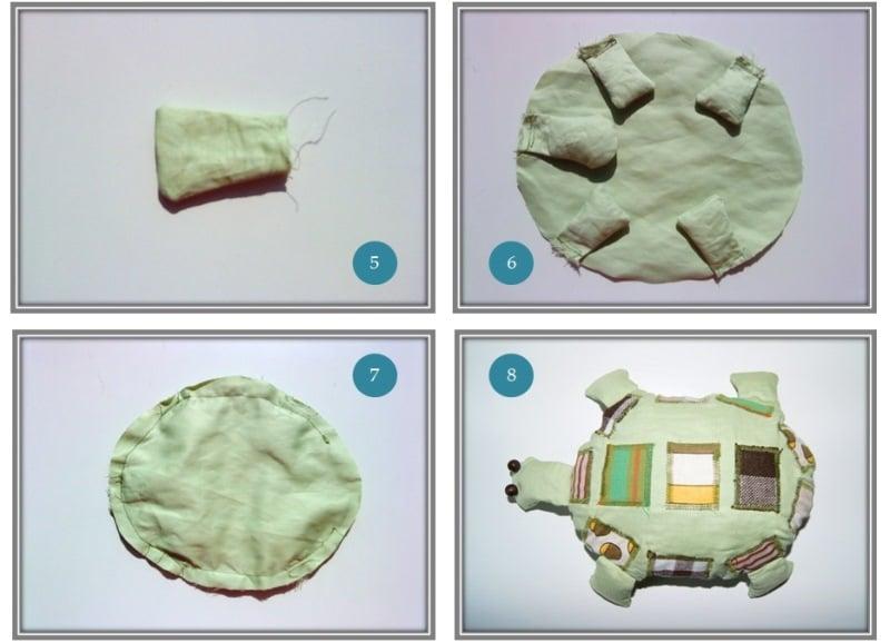 Schildkröte aus Stoffresten - HANDMADE Kultur