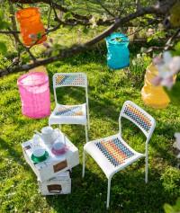 Stühle mit Riesen-Kreuzstich