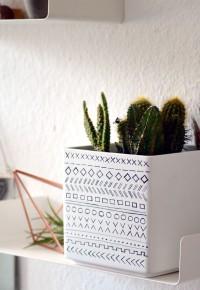 Supereinfaches DIY: Blumentopf mit Ethno Muster