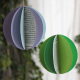 Upcycling Frühlingsdekoration: bunte Papier-Kugeln
