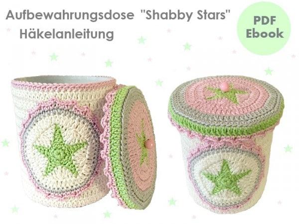 Utensilo Dose Stiftedose Shabby Stars