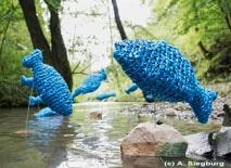 Wanderführung auf dem textilen Kunstwanderweg