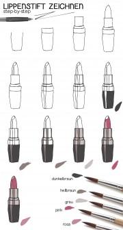 Zeichnen leicht gemacht: Lippenstift step-by-step