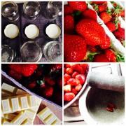 Süß-scharfe Früchtchen…Erdbeermarmelade mit weißer Schokolade und Chili