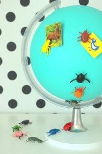 ein Magnetglobus - Krabbelalarm