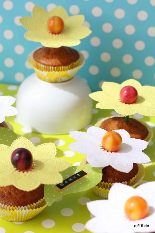 Blumen-Lolli Muffins