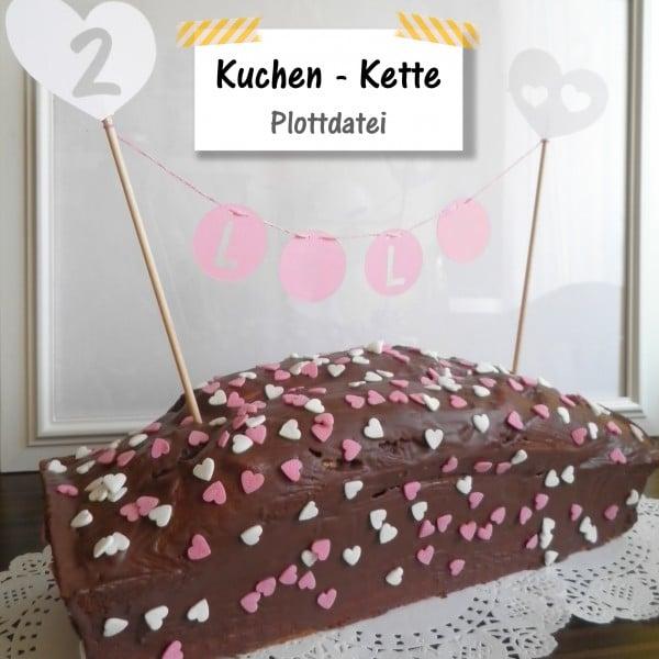"""""""Wimpel""""kette für den Kuchen"""