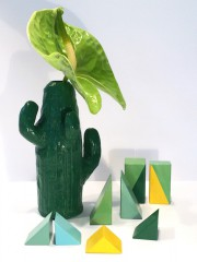 Kaktus aus Modelliermasse und Nagellack