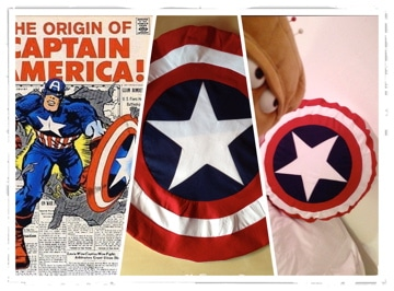 Captain America Kissen