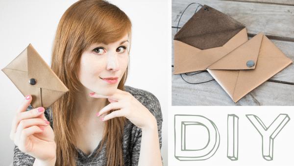DIY Brief-Tasche + kostenlosem Schnittmuster