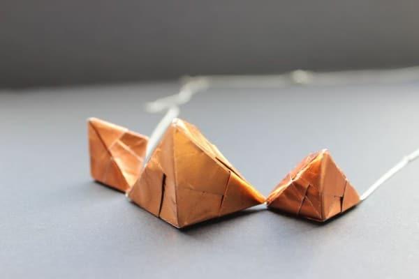 DIY - Kupfer Schmuck mit Sonobe