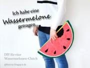 DIY: Wassermelonen-Clutch. Der Sommer kann kommen!