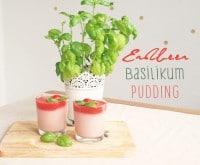 Erdbeer-Basilikum-Pudding