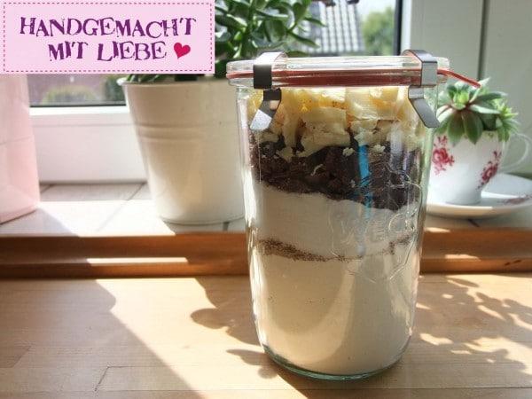 Keksbackmischung im Glas