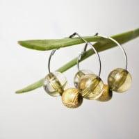 Kreolen Perlenohrringe