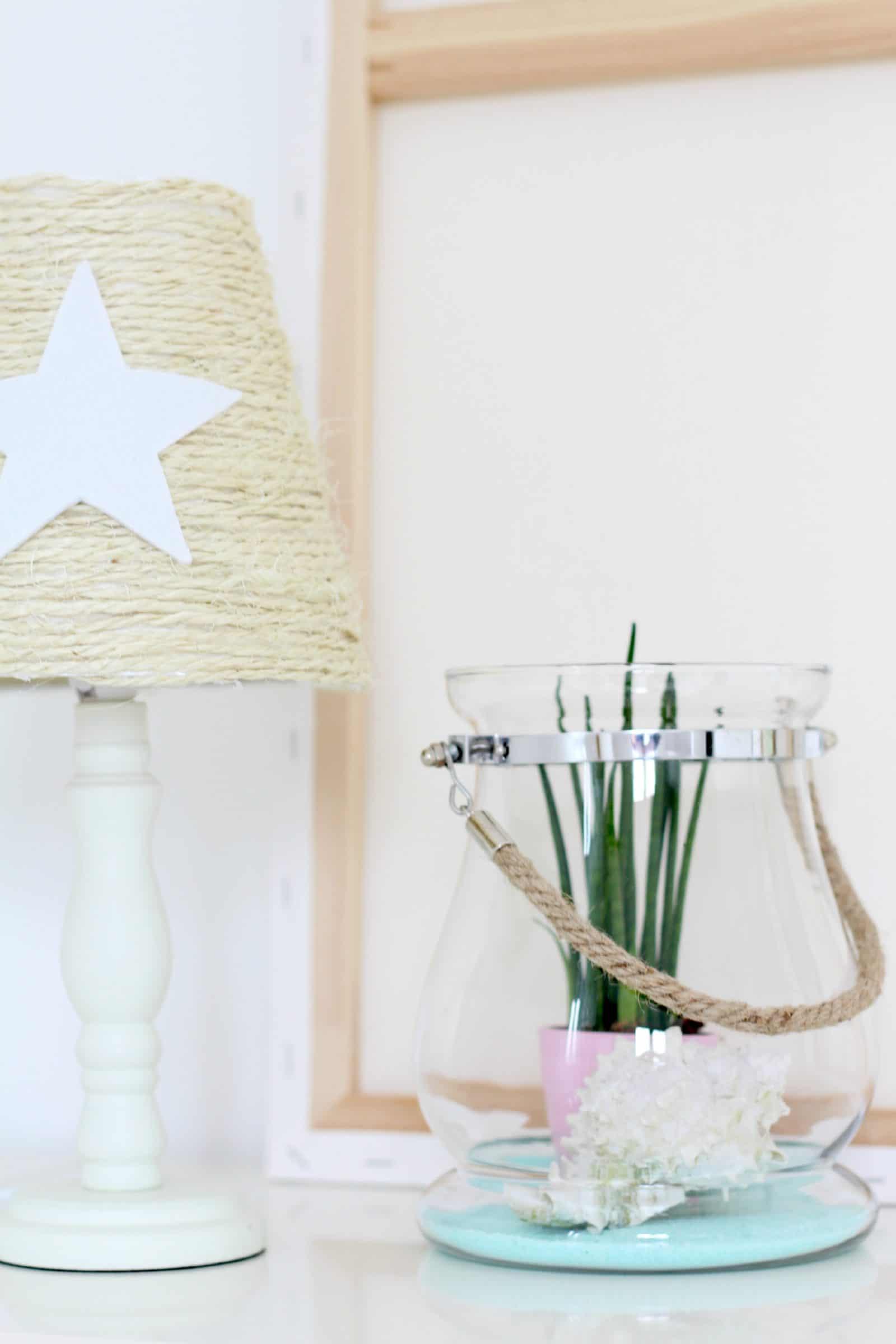 lampe mit beachfeeling handmade kultur. Black Bedroom Furniture Sets. Home Design Ideas